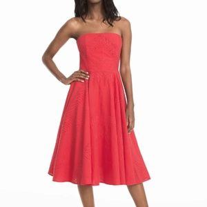 NWT WHBM Fit-and-Flare Strapless Dress Size 14